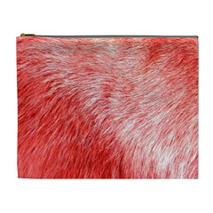 Pink Fur Background Cosmetic Bag (xl) by Simbadda