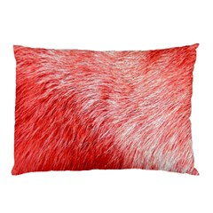 Pink Fur Background Pillow Case (two Sides) by Simbadda