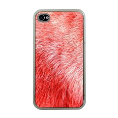 Pink Fur Background Apple Iphone 4 Case (clear) by Simbadda