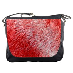 Pink Fur Background Messenger Bags by Simbadda