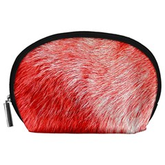 Pink Fur Background Accessory Pouches (large)  by Simbadda