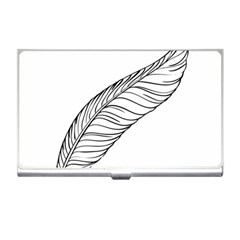 Feather Line Art Business Card Holders by Simbadda