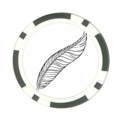 Feather Line Art Poker Chip Card Guard