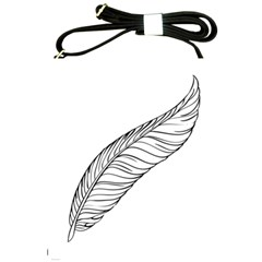 Feather Line Art Shoulder Sling Bags by Simbadda