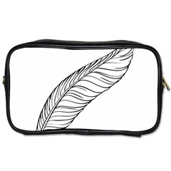 Feather Line Art Toiletries Bags