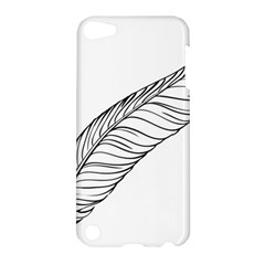 Feather Line Art Apple Ipod Touch 5 Hardshell Case