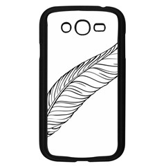 Feather Line Art Samsung Galaxy Grand Duos I9082 Case (black) by Simbadda