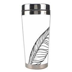 Feather Line Art Stainless Steel Travel Tumblers by Simbadda