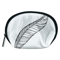 Feather Line Art Accessory Pouches (medium)  by Simbadda