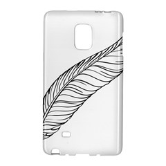 Feather Line Art Galaxy Note Edge by Simbadda