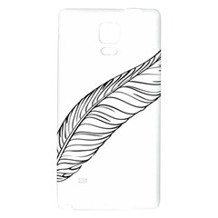 Feather Line Art Galaxy Note 4 Back Case
