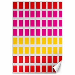 Squares Pattern Background Colorful Squares Wallpaper Canvas 12  X 18   by Simbadda