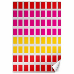 Squares Pattern Background Colorful Squares Wallpaper Canvas 24  X 36  by Simbadda