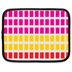 Squares Pattern Background Colorful Squares Wallpaper Netbook Case (large) by Simbadda