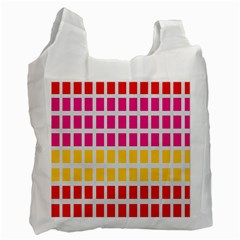 Squares Pattern Background Colorful Squares Wallpaper Recycle Bag (two Side)  by Simbadda