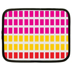 Squares Pattern Background Colorful Squares Wallpaper Netbook Case (xl)