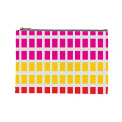 Squares Pattern Background Colorful Squares Wallpaper Cosmetic Bag (large)  by Simbadda