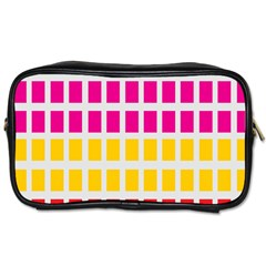 Squares Pattern Background Colorful Squares Wallpaper Toiletries Bags 2 Side by Simbadda
