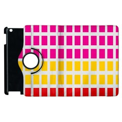 Squares Pattern Background Colorful Squares Wallpaper Apple Ipad 3/4 Flip 360 Case
