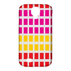 Squares Pattern Background Colorful Squares Wallpaper Samsung Galaxy S4 Classic Hardshell Case (pc+silicone) by Simbadda
