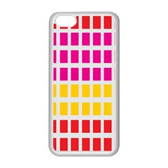 Squares Pattern Background Colorful Squares Wallpaper Apple Iphone 5c Seamless Case (white) by Simbadda