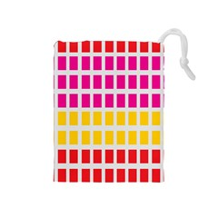 Squares Pattern Background Colorful Squares Wallpaper Drawstring Pouches (medium)