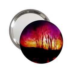 Fall Forest Background 2 25  Handbag Mirrors by Simbadda