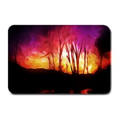 Fall Forest Background Plate Mats by Simbadda
