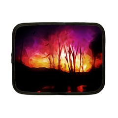 Fall Forest Background Netbook Case (small)