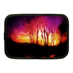 Fall Forest Background Netbook Case (medium)  by Simbadda