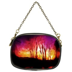 Fall Forest Background Chain Purses (one Side)  by Simbadda