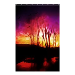 Fall Forest Background Shower Curtain 48  X 72  (small)  by Simbadda