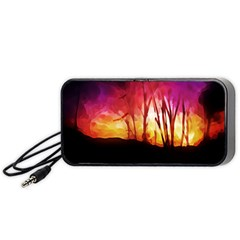 Fall Forest Background Portable Speaker (black) by Simbadda