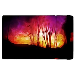 Fall Forest Background Apple Ipad 3/4 Flip Case by Simbadda