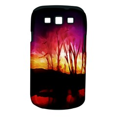 Fall Forest Background Samsung Galaxy S Iii Classic Hardshell Case (pc+silicone) by Simbadda