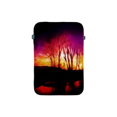 Fall Forest Background Apple Ipad Mini Protective Soft Cases by Simbadda