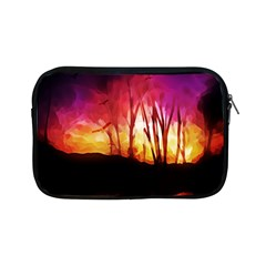 Fall Forest Background Apple Ipad Mini Zipper Cases by Simbadda