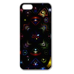 Geometric Line Art Background In Multi Colours Apple Seamless Iphone 5 Case (clear) by Simbadda