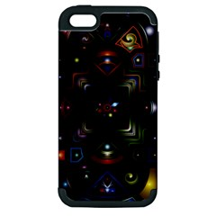 Geometric Line Art Background In Multi Colours Apple Iphone 5 Hardshell Case (pc+silicone)