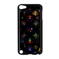 Geometric Line Art Background In Multi Colours Apple Ipod Touch 5 Case (black)