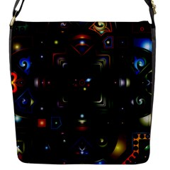 Geometric Line Art Background In Multi Colours Flap Messenger Bag (s)