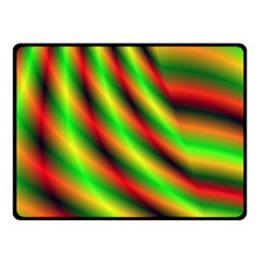 Neon Color Fractal Lines Fleece Blanket (small) by Simbadda