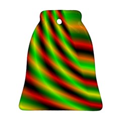 Neon Color Fractal Lines Bell Ornament (two Sides) by Simbadda