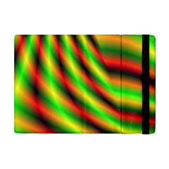 Neon Color Fractal Lines Apple Ipad Mini Flip Case by Simbadda