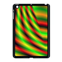 Neon Color Fractal Lines Apple Ipad Mini Case (black) by Simbadda