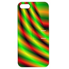 Neon Color Fractal Lines Apple Iphone 5 Hardshell Case With Stand