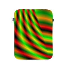 Neon Color Fractal Lines Apple Ipad 2/3/4 Protective Soft Cases by Simbadda