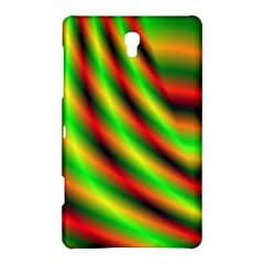 Neon Color Fractal Lines Samsung Galaxy Tab S (8 4 ) Hardshell Case  by Simbadda