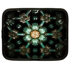 Kaleidoscope With Bits Of Colorful Translucent Glass In A Cylinder Filled With Mirrors Netbook Case (xl)
