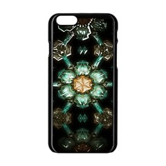 Kaleidoscope With Bits Of Colorful Translucent Glass In A Cylinder Filled With Mirrors Apple Iphone 6/6s Black Enamel Case by Simbadda
